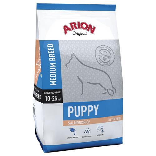 (3,72 EUR/kg) Arion Original Puppy Medium Salmon & Rice 12 kg