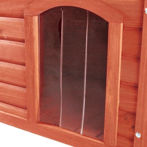 Trixie Kunststofftür für natura Flachdach-Hundehütte, Maße: 34 x 52 cm