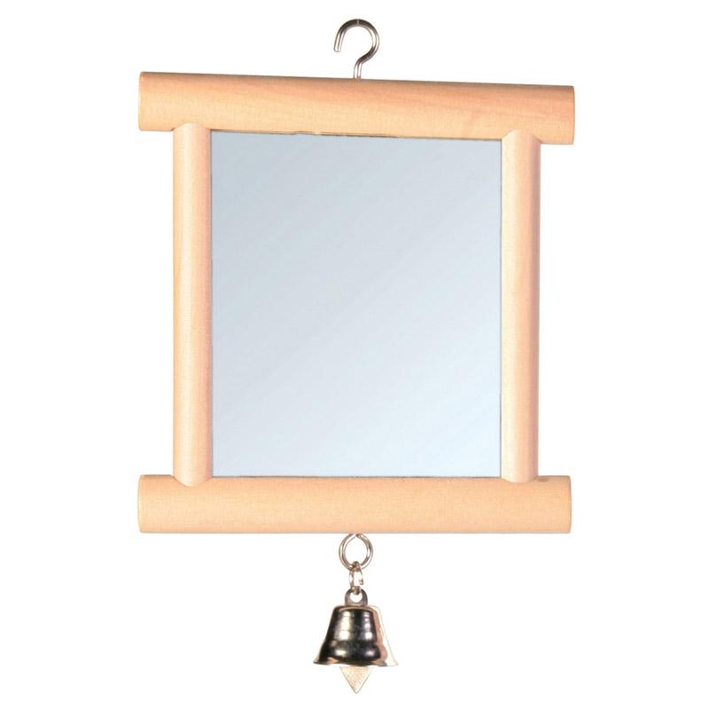trixie spiegel mit holzrahmen glocke. Black Bedroom Furniture Sets. Home Design Ideas
