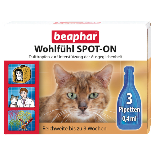beaphar wohlf hl spot on f r katzen 3x0 4 ml. Black Bedroom Furniture Sets. Home Design Ideas