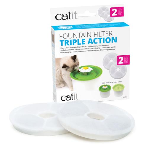 catit senses 2 0 triple action fontain filter 2er set. Black Bedroom Furniture Sets. Home Design Ideas