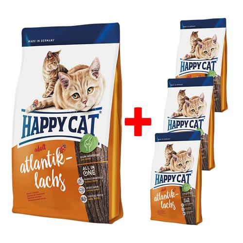 happy cat supreme adult atlantik lachs 4 kg 3 x 300 g gratis. Black Bedroom Furniture Sets. Home Design Ideas