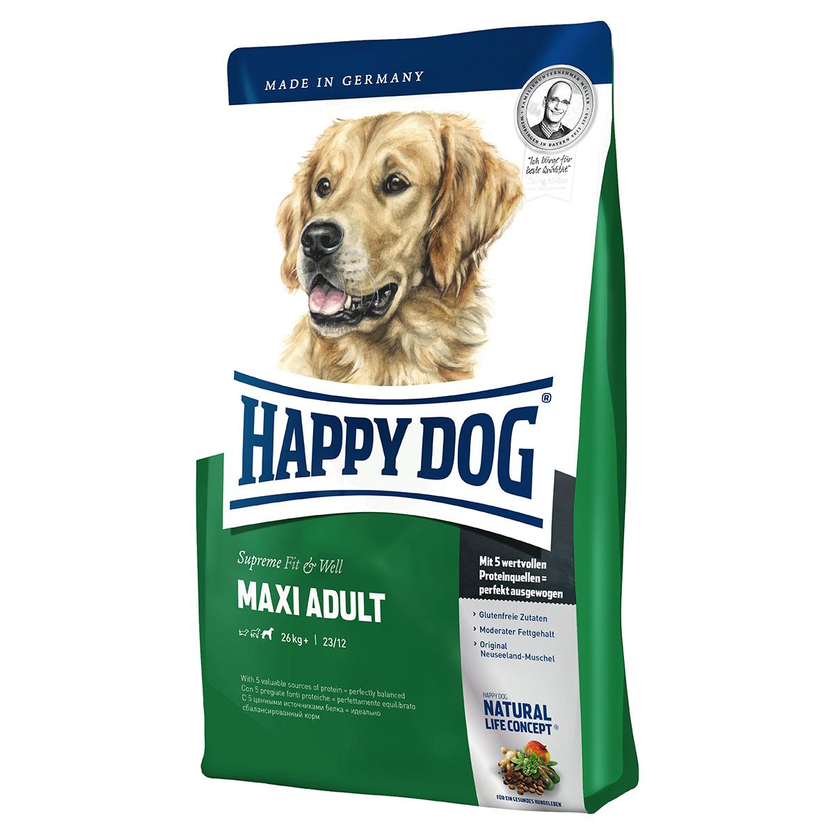 happy dog supreme fit well maxi adult 1 kg. Black Bedroom Furniture Sets. Home Design Ideas