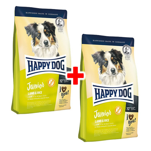 happy dog supreme young junior lamm reis 1 kg 1 1 aktion. Black Bedroom Furniture Sets. Home Design Ideas