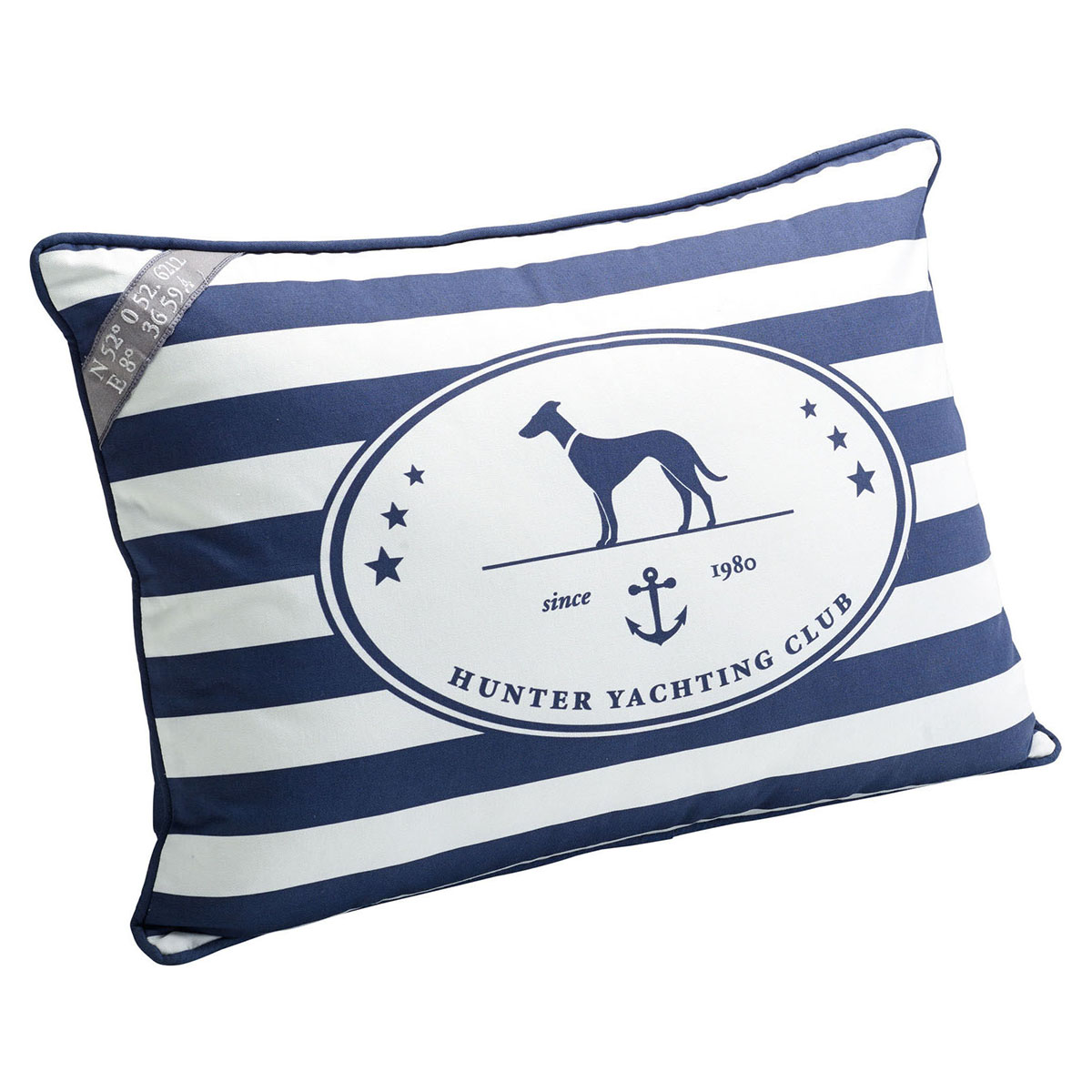 hunter deko kissen binz blau wei. Black Bedroom Furniture Sets. Home Design Ideas
