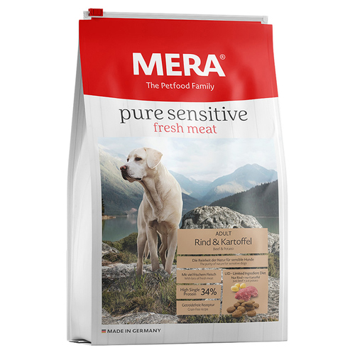 mera dog pure sensitive fresh meat mit rind kartoffel 4 kg. Black Bedroom Furniture Sets. Home Design Ideas