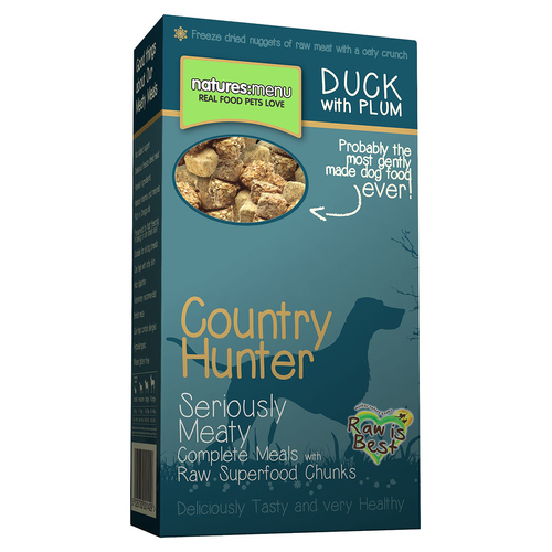 natures menu country hunter superfood barf to go ente mit pflaume 700 g. Black Bedroom Furniture Sets. Home Design Ideas