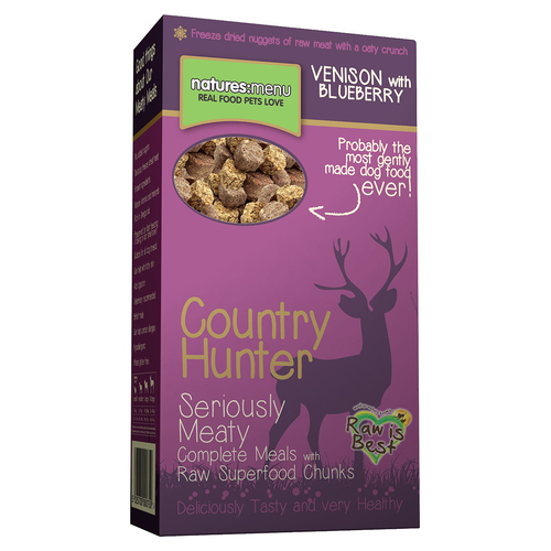 natures menu country hunter superfood barf to go hirsch mit blaubeeren 700 g. Black Bedroom Furniture Sets. Home Design Ideas