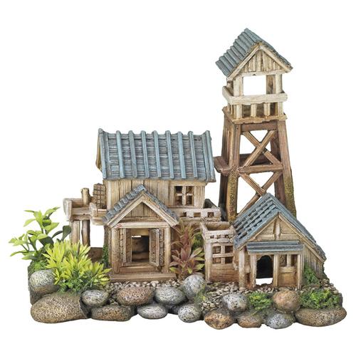 nobby aquariendekoration haus mit turm und pflanzen. Black Bedroom Furniture Sets. Home Design Ideas