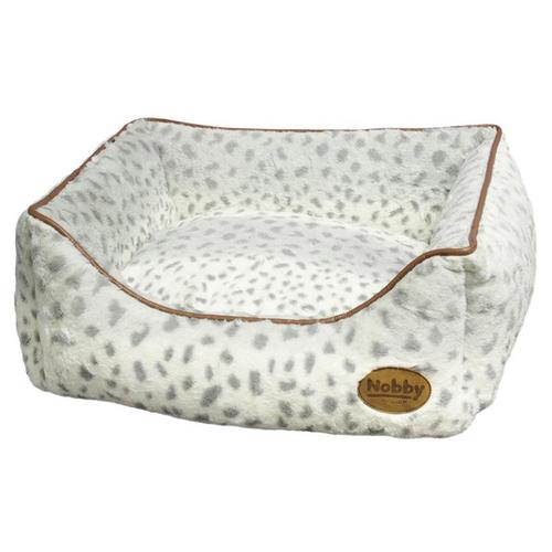 nobby hundebett eckig alanis leopard grau. Black Bedroom Furniture Sets. Home Design Ideas