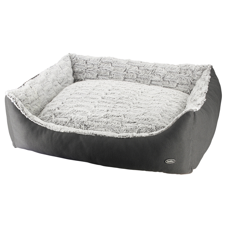 nobby hundebett eckig riwu grau. Black Bedroom Furniture Sets. Home Design Ideas