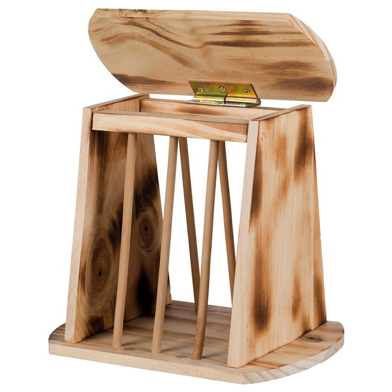 trixie heuraufe zum aufstellen aus holz. Black Bedroom Furniture Sets. Home Design Ideas