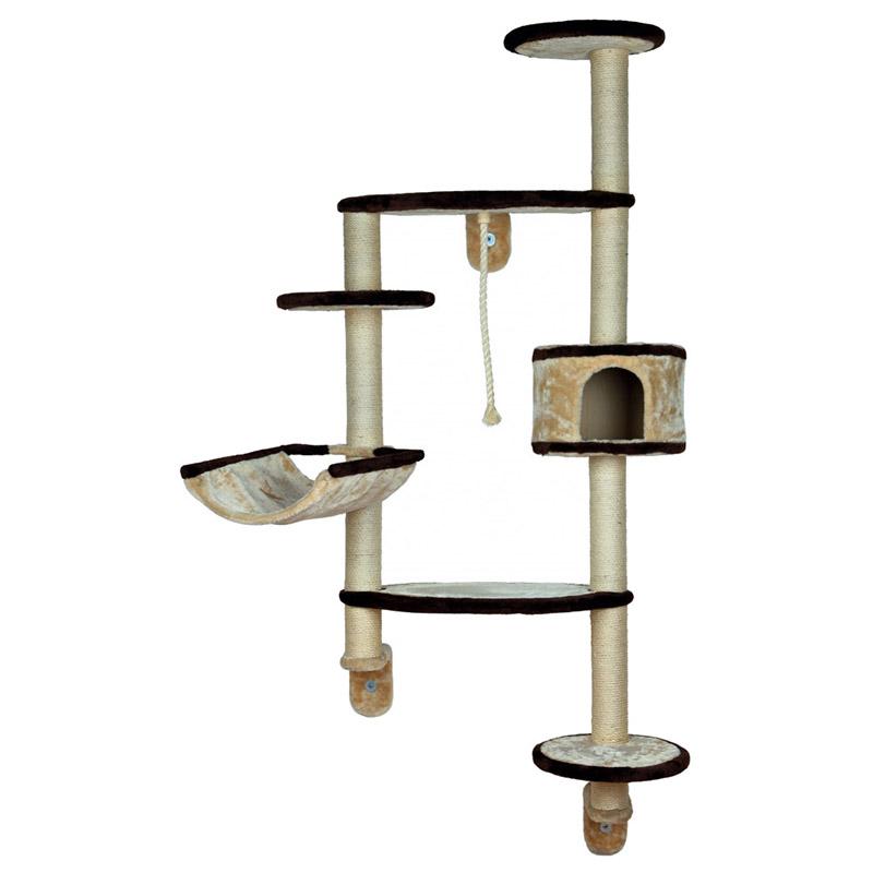 trixie kratzbaum francesco beige braun zur wandmontage. Black Bedroom Furniture Sets. Home Design Ideas