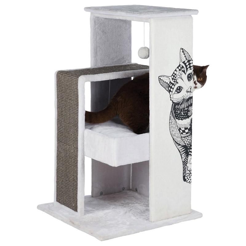 trixie kratzbaum maria wei grau. Black Bedroom Furniture Sets. Home Design Ideas