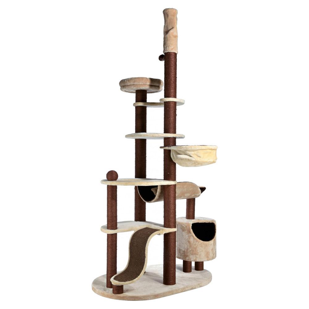 trixie kratzbaum nataniel beige braun deckenhoch. Black Bedroom Furniture Sets. Home Design Ideas
