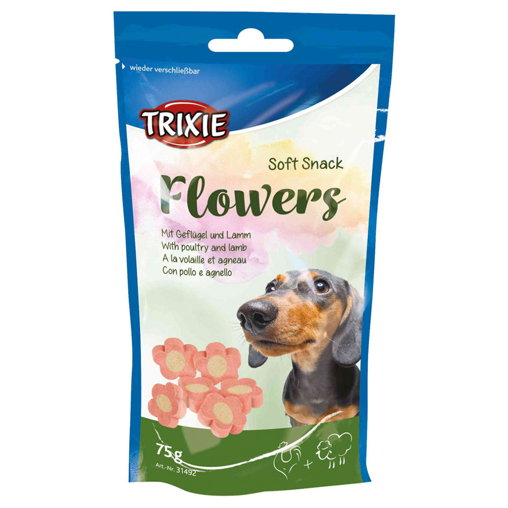 trixie soft snack flowers 75 g 12 packungen sparpaket. Black Bedroom Furniture Sets. Home Design Ideas