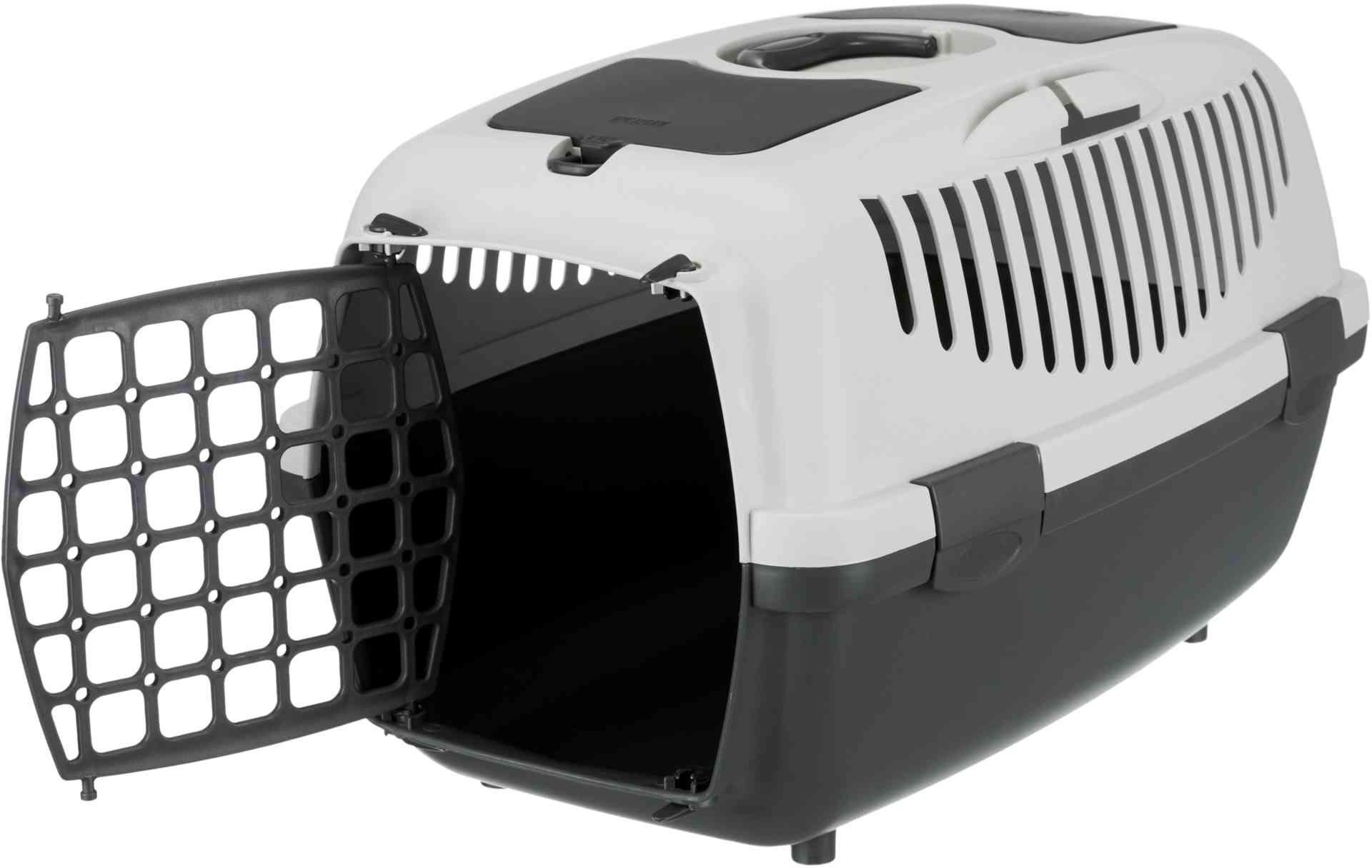 trixie transportbox capri hellgrau dunkelgrau f r hunde. Black Bedroom Furniture Sets. Home Design Ideas
