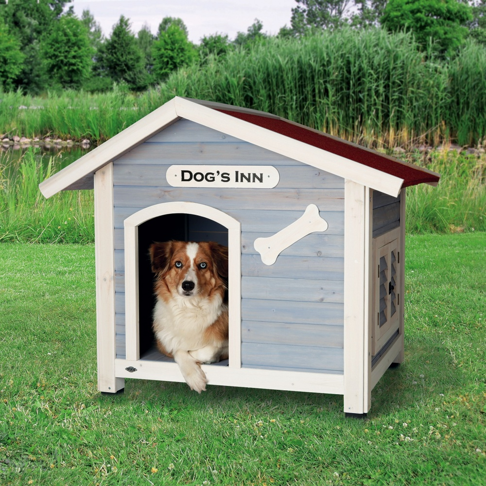 trixie natura hundehütte mit satteldach